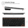Caseflex Ultra Compact Universal Bluetooth Keyboard -Black & Silver