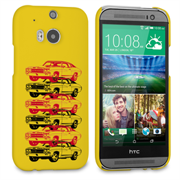 Caseflex Chevrolet Chevelle Classic Car HTC One M8 Case- Yellow