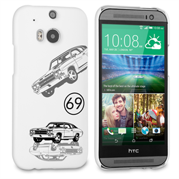 Caseflex Chevrolet Chevelle Classic Car HTC One M8 Case- White