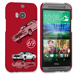 Caseflex Chevrolet Chevelle Classic Car HTC One M8 Case- Purple