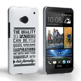 Caseflex Father Family Quote HTC One Case