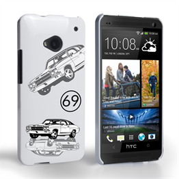 Caseflex Chevrolet Chevelle Classic Car HTC One Case- White