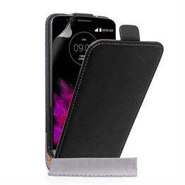 Caseflex LG G4 Real Leather Flip Case - Black