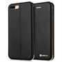 Caseflex iPhone 7 Plus Leather-Effect Embossed Stand Wallet with Felt Lining - Black (Retail Box)